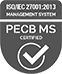 ISO/IEC 27001: 2013 Management System - PECB MS Certified Logo