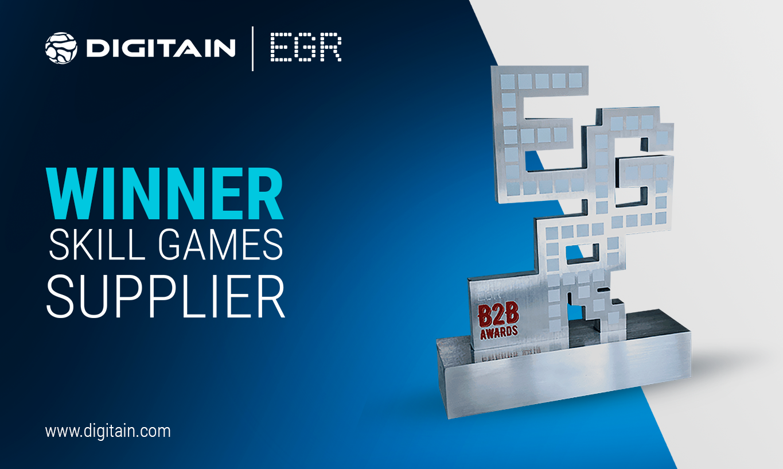 DIGITAIN WINS SKILL GAMES SUPPLIER AT THE EGR B2B AWARDS 2020
